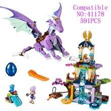 591pcs NEW Bela Elves 41178 The Dragon Sanctuary Building Kit Girls Assembled Models Blocks Toys for Children