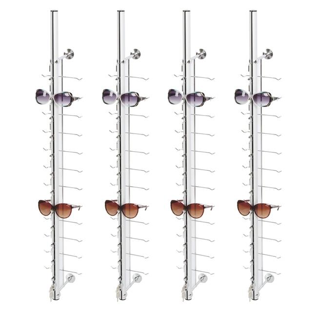 LOC A 12PC 110CM metalowy stojak na okulary z zamkiem
