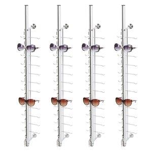 Image 1 - Soporte de exhibición de gafas montado en la pared de Metal LOC A 12PC 110CM con cerradura
