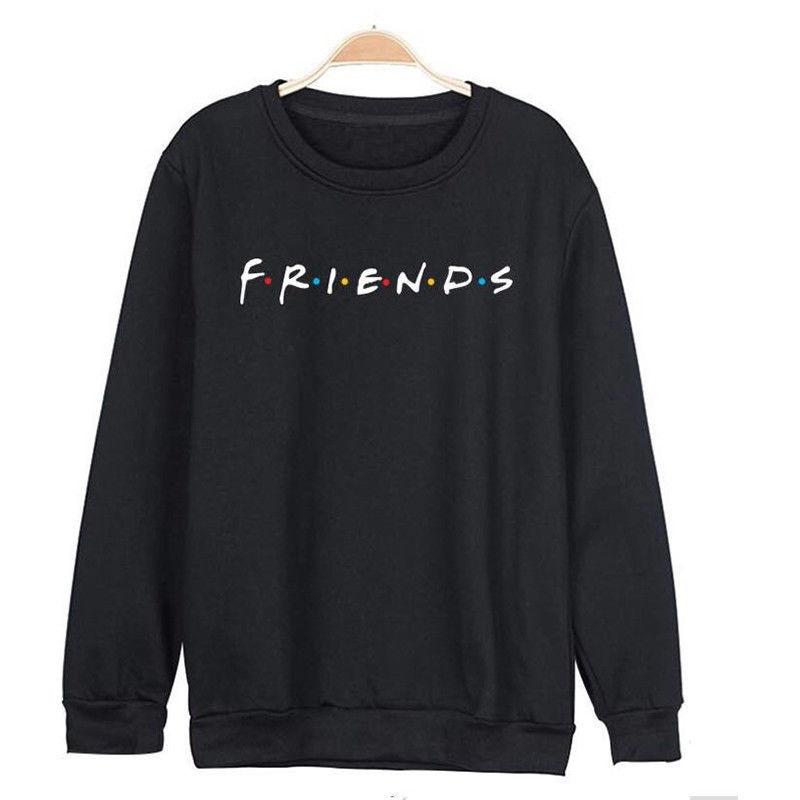 Brand New 19 Womens 5 Colors Letters FRIENDS Print Long Sleeve Hoodie Sweatshirt Ladies Slouch Pullover Jumper Tops S M L XL 9