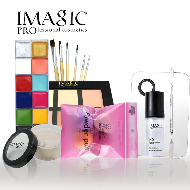 IMAGIC  makeup set 12 color oil painting Art  Foundation Cream  Moisturizing long lasting Make Up Set Tools Party Fancy Dress stylish scoop neck sleeveless furcal hollow out women s dress