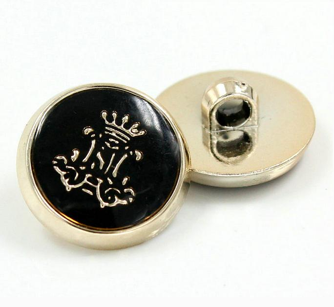 Plastic ABS plating rose golden vintage Vinyl crown sweater Button coat shank buttons 200pcs/lot free shipping