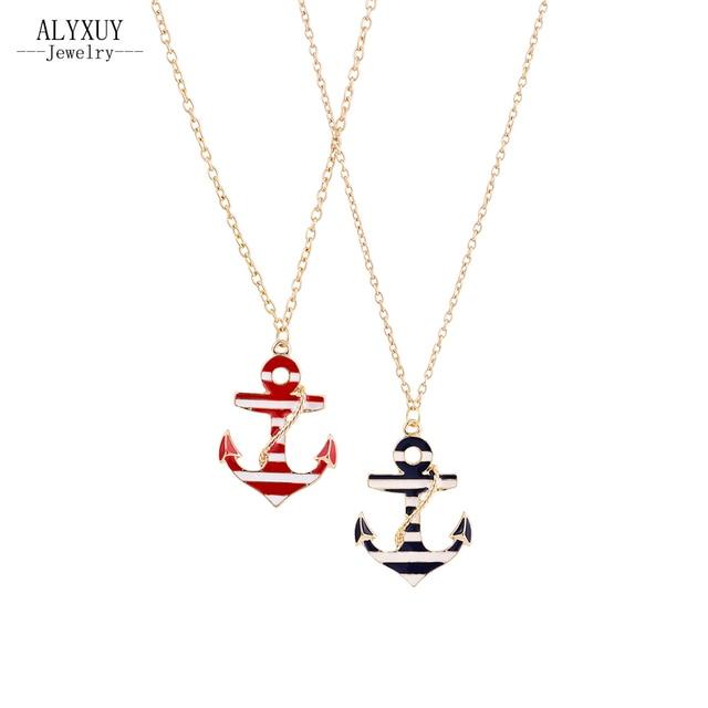 5c9f37338f3f Nueva joyería de moda de aceite collar colgante ancla regalo para muchacha  de las mujeres de