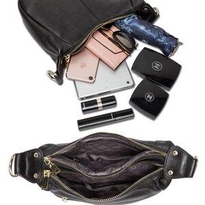 Image 5 - Zency 100% Genuine Leather Classic Black Women Shoulder Bag Fashion Crossbody Messenger Purse For Female High Quality Handbag