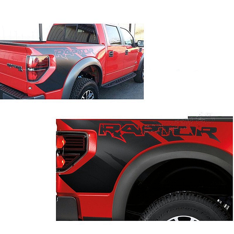 Auto Body Rear Tail Side Trunk Vinyl Decals Raptor Graphics SVT Sticker for Ford F150 2009 2010 2011 2012 2013 2014 car auto accessories rear trunk trim tail door trim for subaru xv 2009 2010 2011 2012 2013 2014 abs chrome 1pc per set