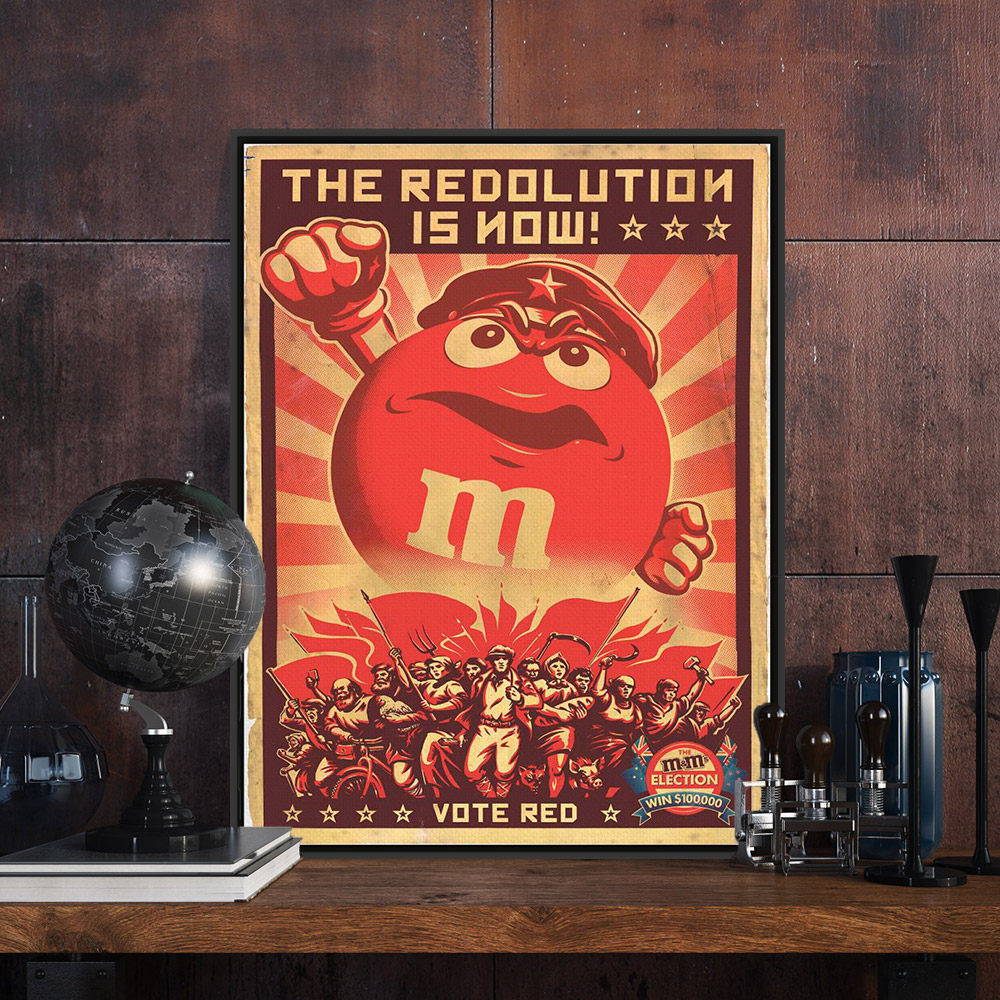 cratoon vintage retro red revolution military canvas a4 big art print poster wall picture kids room
