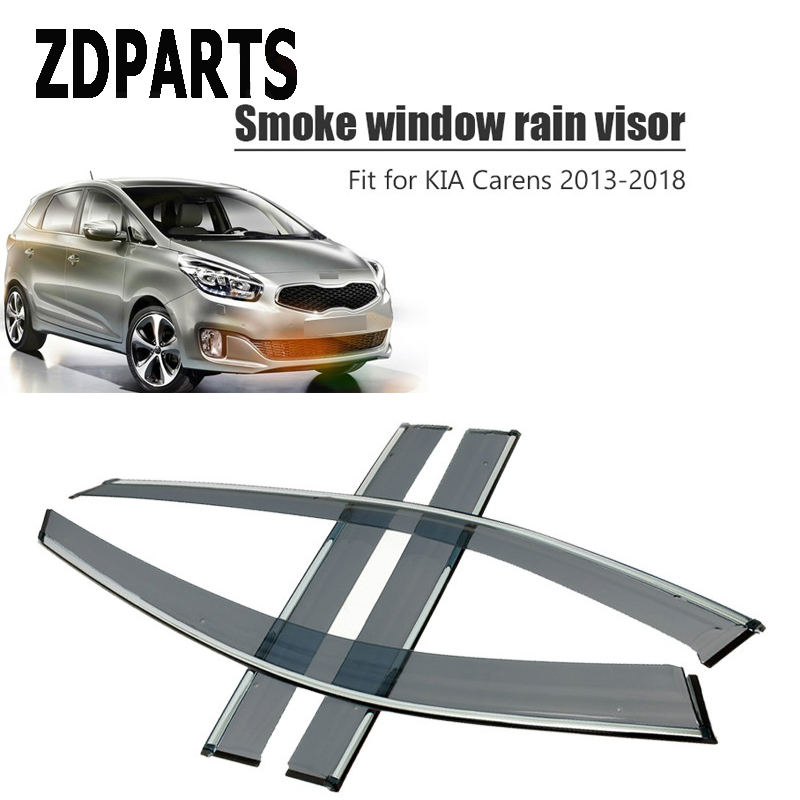 ZDPARTS 4 قطع سيارة الرياح عاكس الشمس الحرس المطر الرياح تنفيس قناع غطاء تقليم اكسسوارات لكيا كارينز 2013 2014 2015 2016 2017