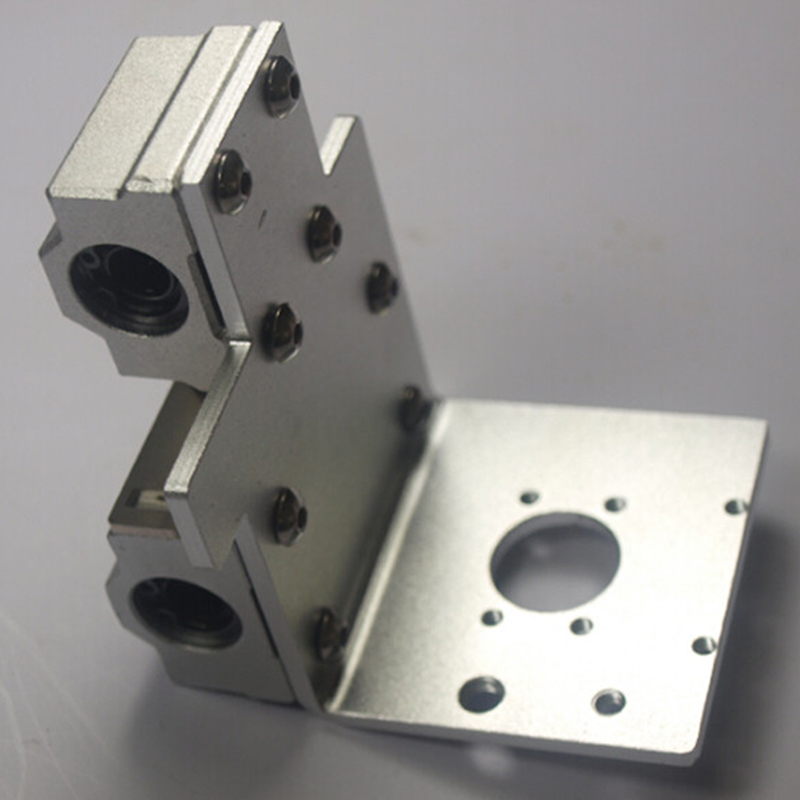 New 3D printer X axis extruder holder for Reprap Prusa i3 extrusion Carriage Aluminum Alloy Bearing holes distance 18 mm