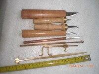 8pcs various Violin tools,sound post retriever&setter&Gauge &cutters& craper
