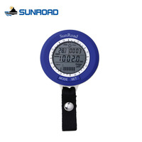 SUNROAD Thermometer Altimeter Fishing Watch Waterproof Mini LCD Digital Barometer IPX4 Fish Finder Watches Carabiner Relogio