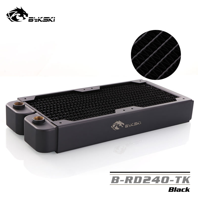 Bykski B RD240 TK 240mm Double Row Radiators 39mm Thickness Standard Water Cooling Radiators Suitable For