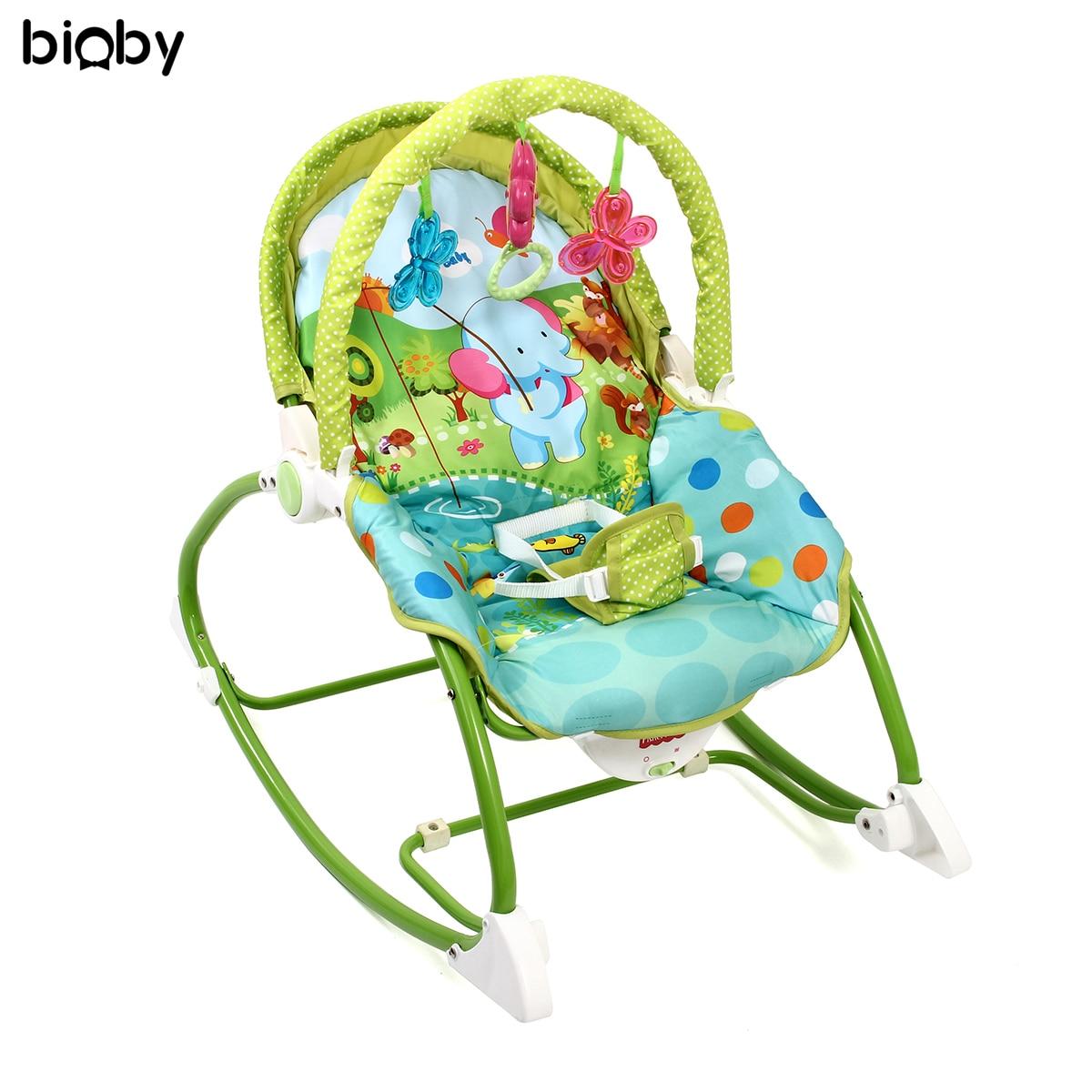 Bébé infantile chaise de soins de la musique pliant berceau siège bébé à bascule videur Vibration balançoire jouets dormeur Balance nouveau-né chaise à bascule