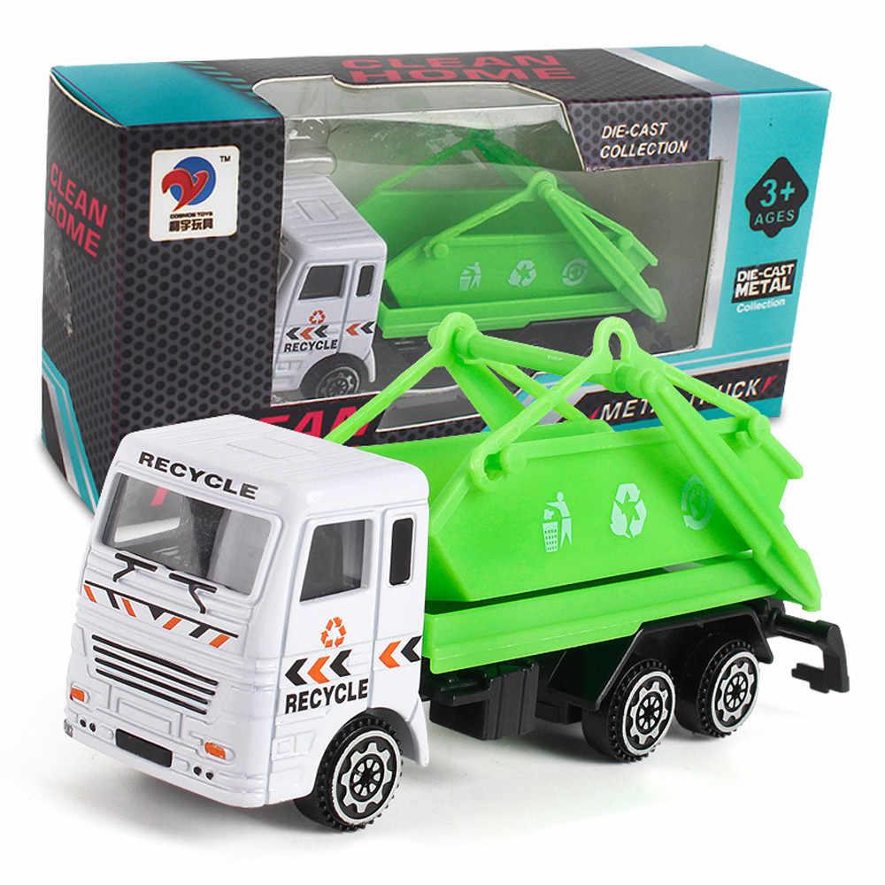 Teknik Mainan Pertambangan Mobil Truk Anak Ulang Tahun Hadiah Truk Sampah Cahaya dan Suara SOS Api Mesin Kendaraan