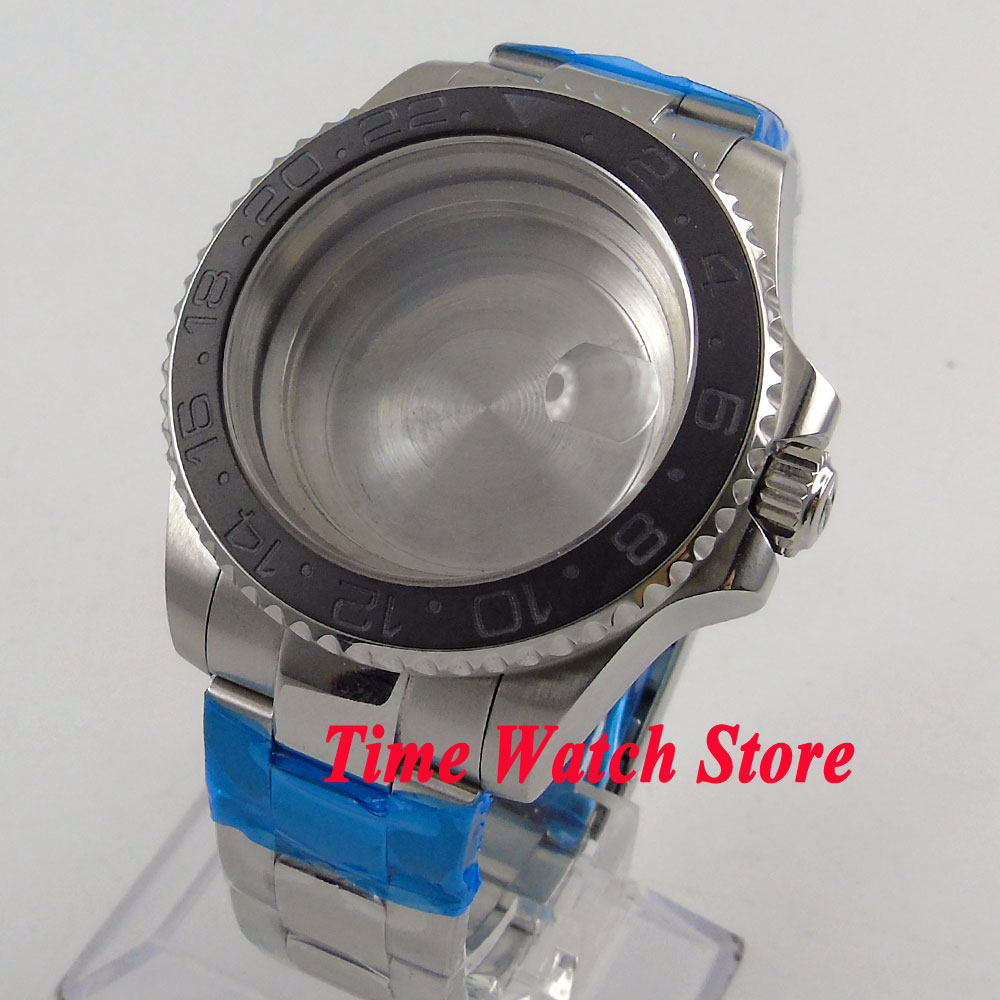 купить Fit ETA 2824 2836 movement 40mm sapphire crystal ceramic bezel watch case 115 по цене 5079.41 рублей