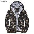Camouflage Jacket Women/Men 2016 New Winter Camo Thick Slim Fit Velvet Coat Parka Men Wool Hat Design Jackets Mens Clothes M-4XL