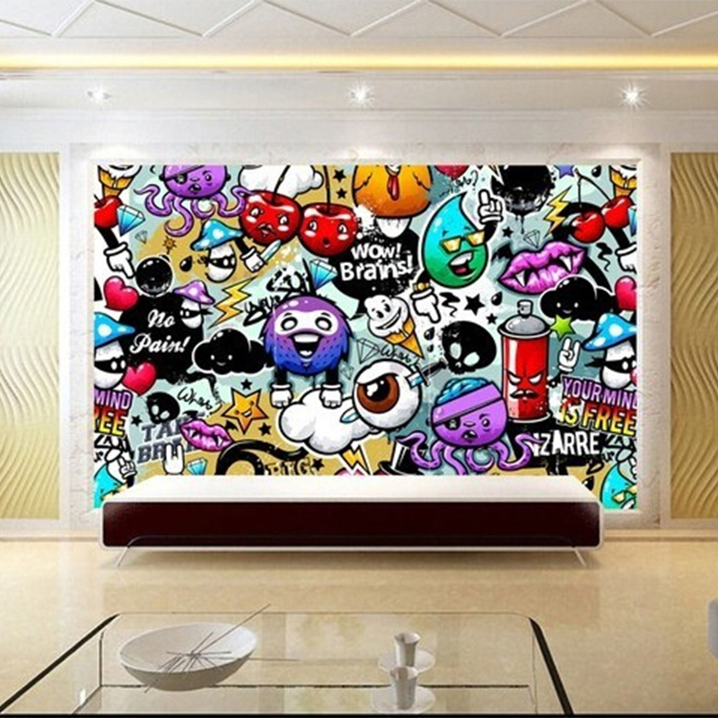 Graffiti mural wallpaper picture more detailed picture for Creative mural art