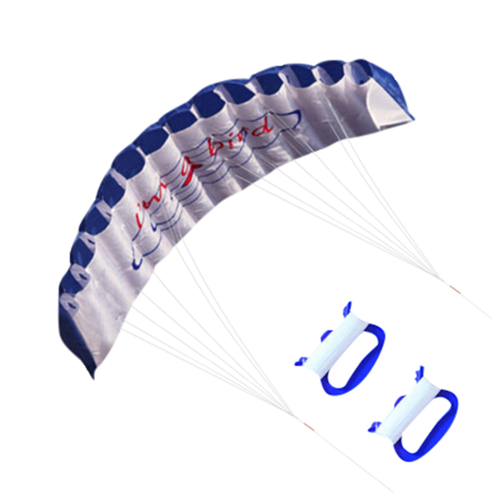 Inflatable Kite New 1.4m Soft Power Kites Outdoor Fun Toys Parafoil Parachute Dual Line Surfing vliegers voor kinderen #LR3