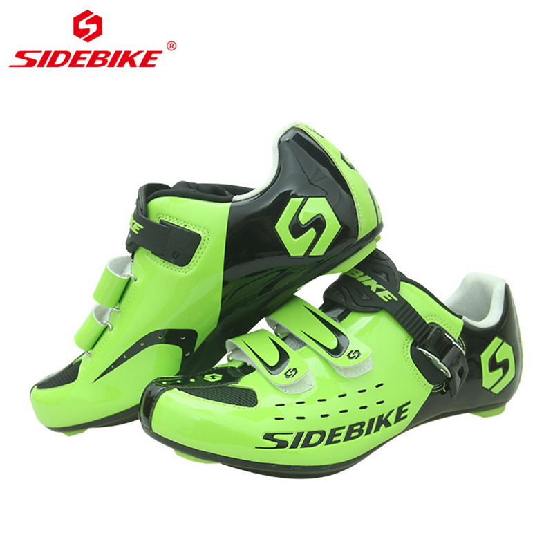 SIDEBIKE Self-lock Mens Bike Shoes Road Cycling Shoes Breathable Non-slip Nylon Sole Triathlon MTB Mountain Bicycle Shoes GreenSIDEBIKE Self-lock Mens Bike Shoes Road Cycling Shoes Breathable Non-slip Nylon Sole Triathlon MTB Mountain Bicycle Shoes Green