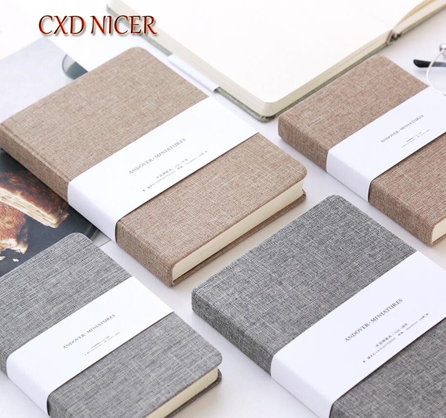 Simple Cloth Blank Diary Stationery Notebook For Writing Memopad Office School Supplies DD2628