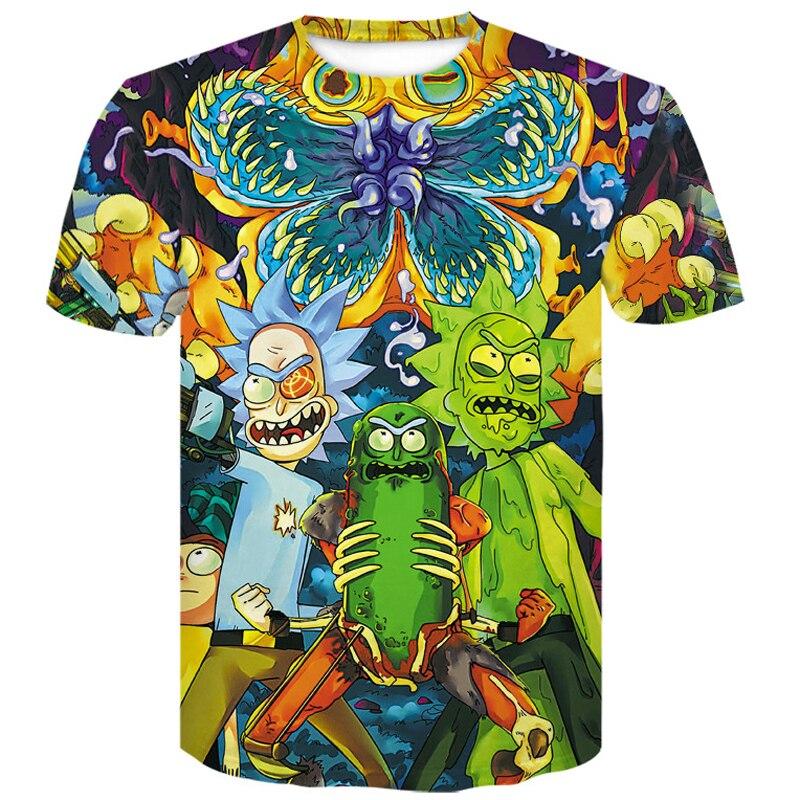 menswear 2019 Rick and Morty marvel 3D T-Shirt Skull Newest Summer Cartoon motley crue men t shirt harajuku funny Male T-shirts