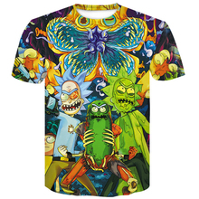 menswear 2019 Rick and Morty marvel 3D T-Shirt Skull Newest Summer Cartoon motley crue men t shirt harajuku funny Male T-shirts