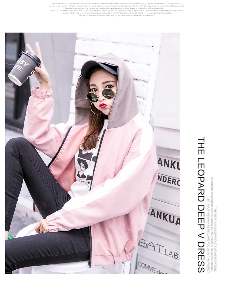 2019 Autumn Jacket Womens Streetwear Patchwork Hooded Totoro Jackets Kawaii Basic Coats harajuku Outerwear chaqueta mujer 52