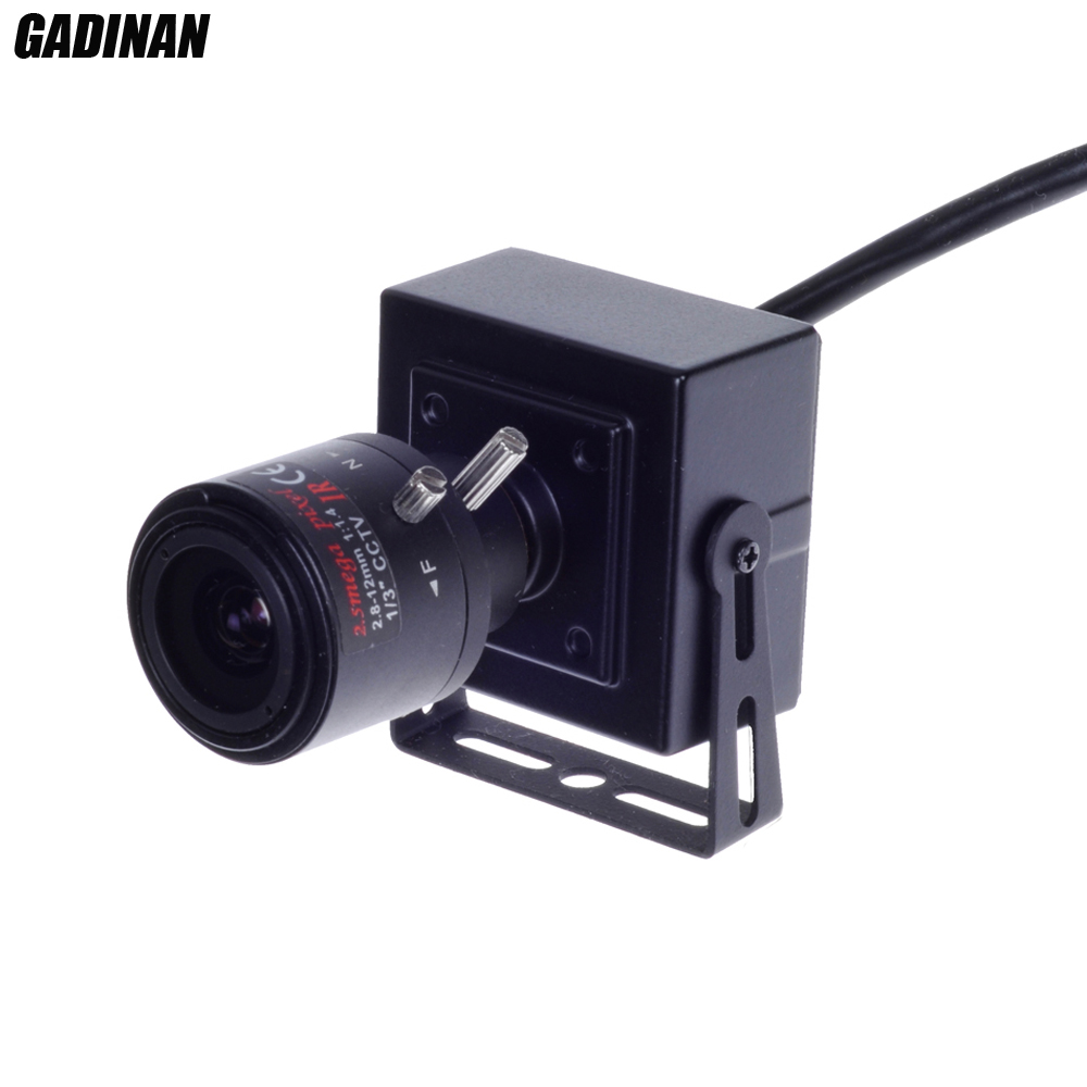 Gadinan Mini ONVIF 2MP 1080P DSP Hi3516CV300+F22 H.265 H.264 Security P2P CCTV 2.8-12mm Zoom Lens Network POE IP Camera Metal ds 2cd4026fwd a english version 2mp ultra low light smart cctv ip camera poe auto back focus without lens h 264
