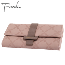 купить Fashion Female Wallet Leather Long Women Wallets Design Foldable Change Credit Card Lady Coin Purses Holders For Girls Carteira онлайн