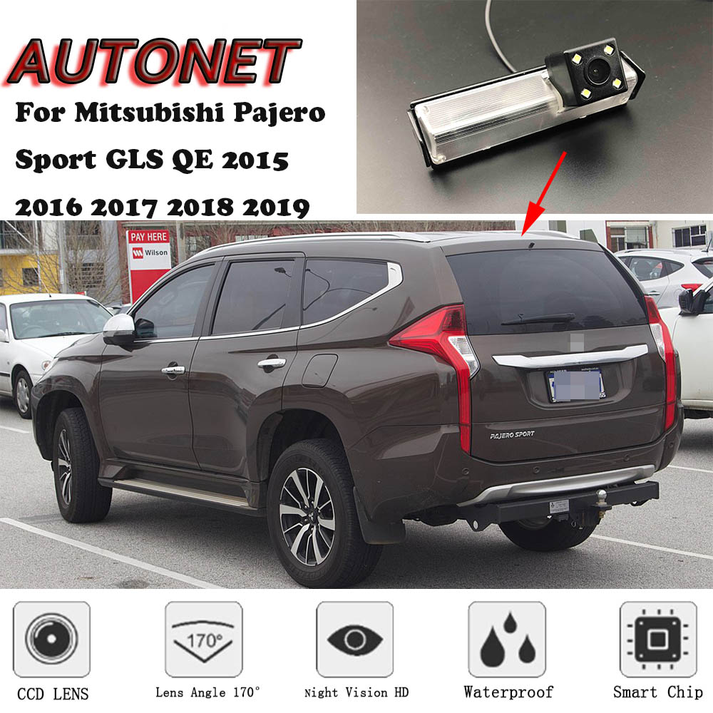 AUTONET Backup Rear View Camera For Mitsubishi Pajero Sport GLS QE 2015 2016 2017 2018 2019  CCD/Night Vision/parking Camera