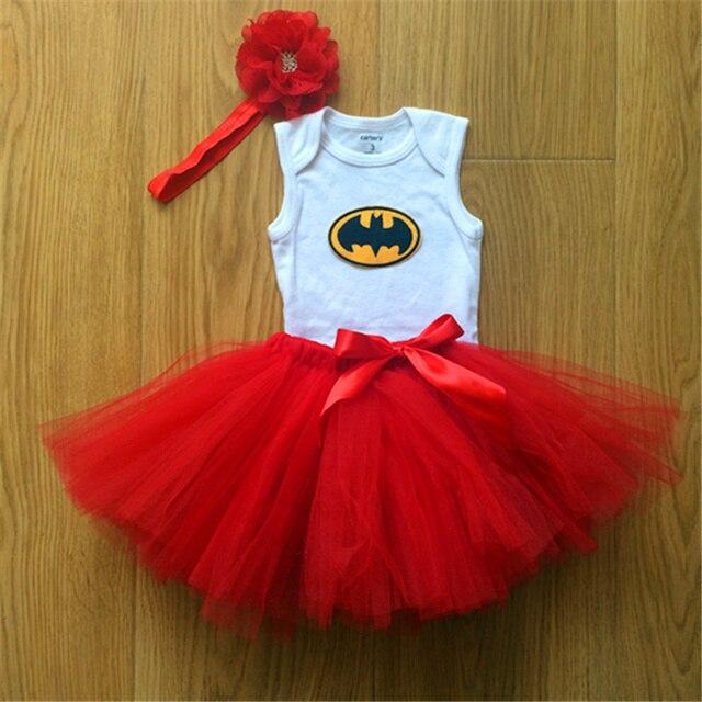 Nueva Baby Girl Body Con Encantadores Conjuntos Falda Traje de Cuerpo de la Falda roja Y Venda de Las Muchachas Pantalones Falda Del Tutú Envío Libre