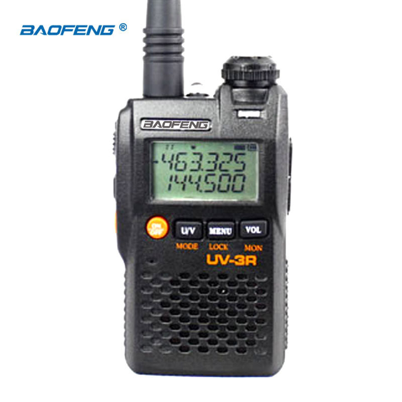 BaoFeng UV-3R Upgrade Version  Long-range Wireless Portable WalkieTalkie Dual Display Professional Dual Band LCD Display Radio