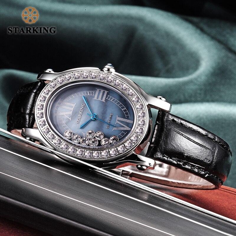 STARKING Relogio Feminino único esfera azul reloj mujeres moda pulsera de acero cuarzo relojes 3atm impermeable Orologio Donna