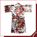 KR002 Satin FLORAL ROBE Children Sleepwear Wedding Flower Girls Gown High Quality Kimono Robes Peacock Nightgown
