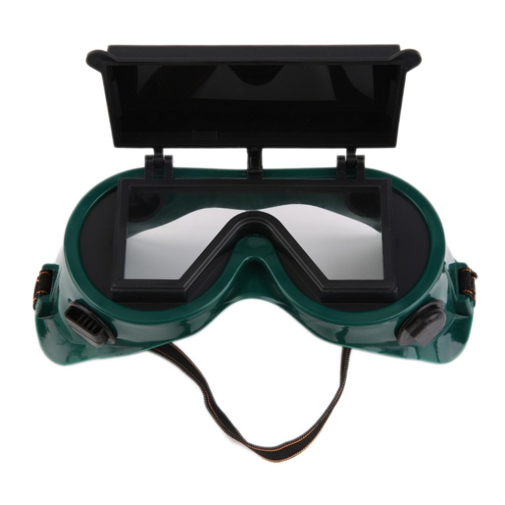 Protective Welding Goggles Lenses Cutting Grinding Welding Eye Protector Labour Working Safety Eyewear Flip Up Cover Glasses