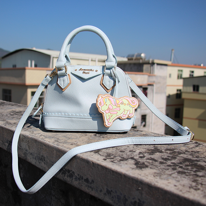 Princess sweet lolita bag Japanese Gemini Unicorn shoulder bag custom Mini Handbag Cartoon sweet soft sister bag women WW017 цена 2017