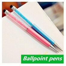 Caneta шариковые бриллиантами канцтовары papelaria эсколар шариковая материал школьные офис ручки
