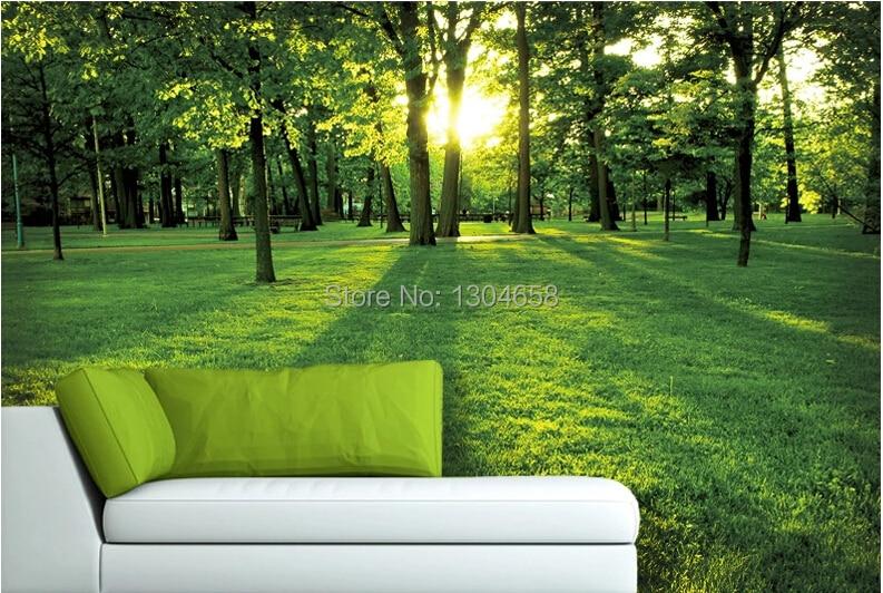 Custom 3d Nature Mural Wallpaper Nature Scenery For Walls: Custom 3D Large Murals Of Natural Scenery Morning Park The