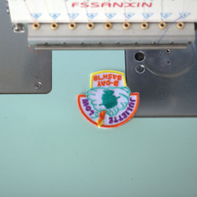Personalized Custom Embroidered Name Tag Sew or Iron On Patch