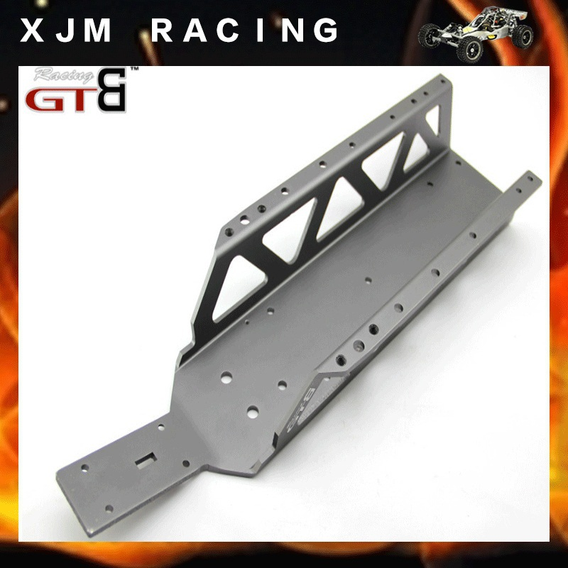GTBRacing Alloy Frame Chassis For 1/5 rc car hpi rovan km baja 5b/5t/5sc parts baja stainless steel chassis stiffener front elevation stiffener 5b 5t 5sc hpi rovan km shield