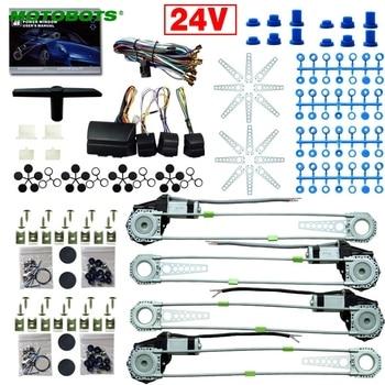 MOTOBOTS Carro/Caminhão DC24V Electronice Kits De Janela De Poder Universal 4 Portas Com 8 Pcs Swithces & Harness # CA2978