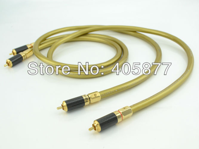 Hifi audio Hexlink Golden 5-C With carbon fiber RCA plug connector cable hifi rca cable 1m free shipping viborg 3m nordost odin rca audio cable with carbon fiber rca audio hifi plug hifi rca cable