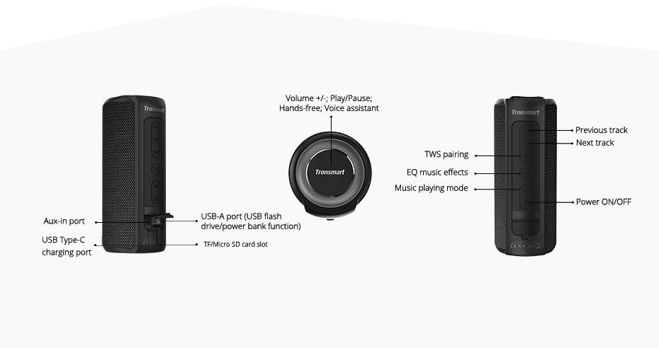 Tronsmart T6 Plus Altavoz Bluetooth portátil 40W 13