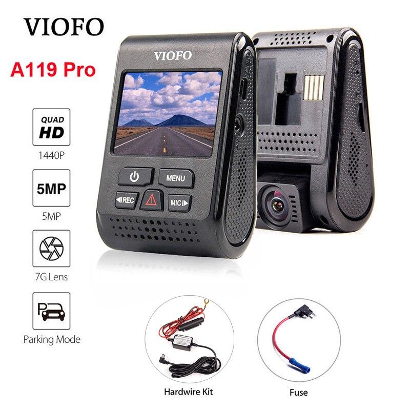 VIOFO A119 Pro Condensatore 2 k 1440 p Novatek 96660 AR0521 HD Car Dash Cam Video Recorder DVR + Hardwire kit + Fusibile GPS Opzionale