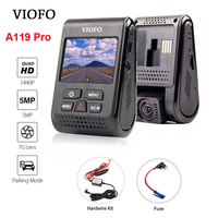 VIOFO A119 Pro Capacitor 2K 1440P Novatek 96660 AR0521 HD Car Dash Cam Video Recorder DVR +Hardwire Kit + Fuse Optional GPS