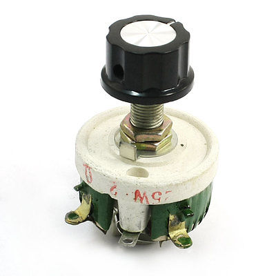 25W 2 Ohm Ceramic Wirewound Potentiometer Variable Resistor Rheostat wirewound ceramic potentiometer adjustable rheostat resistor 50w 1r 2r 5r 10r 20r 30r 50r 100r 200r 300r 500r 1kr 2kr 3kr