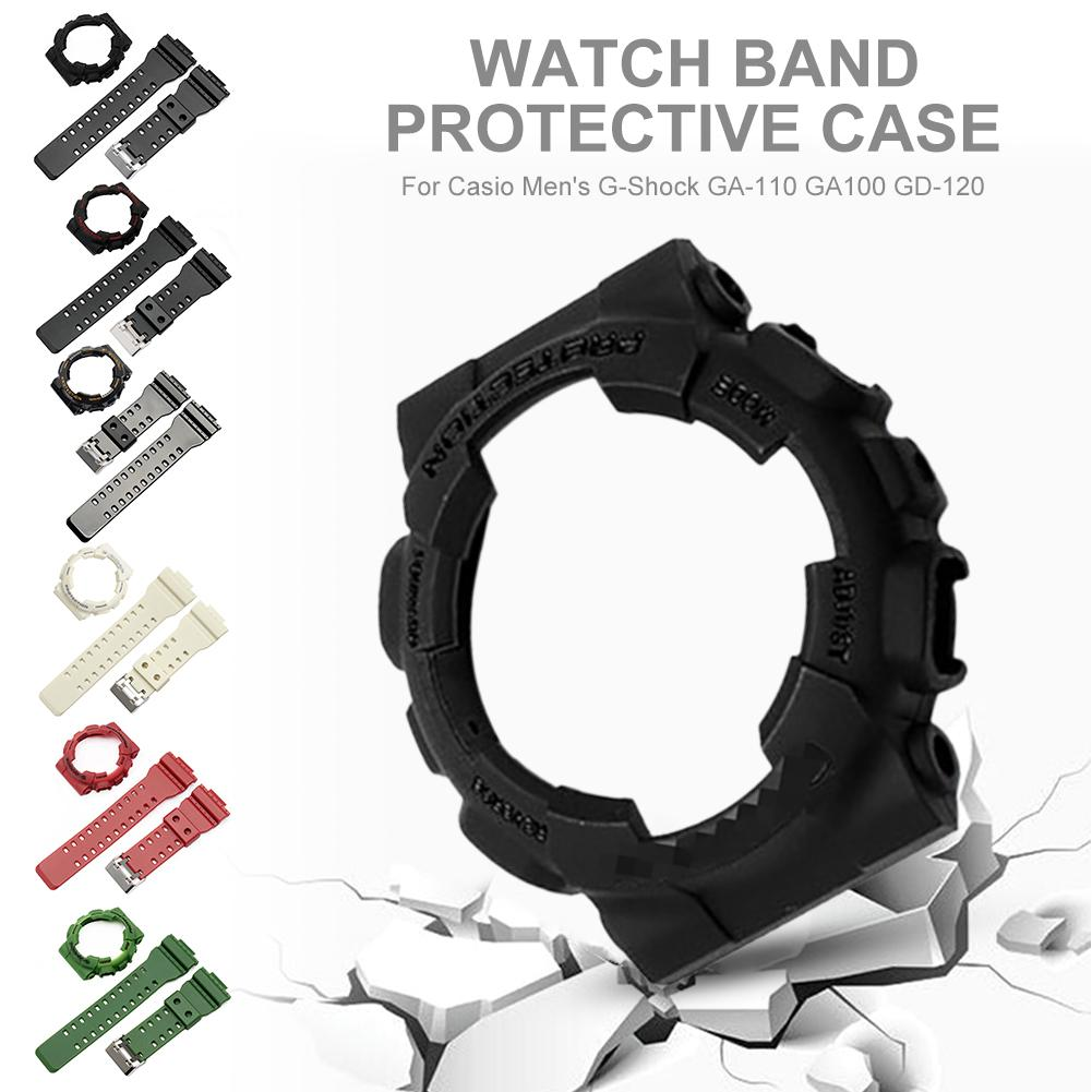2019 Newest Replacement Watch Band Strap Bezel Cover For Casio Men's G-Shock GA-110 GA100 GD-120