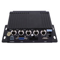 SW 0001A Car Bus RV Mobile HD 4CH DVR Realtime Video/Audio Recorder SD VGA DC 12V Support IR Remote Control For Car Truck ME3L
