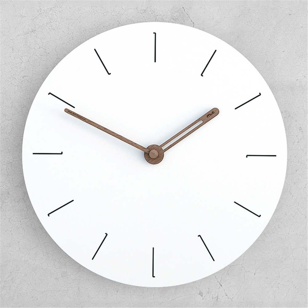 Moderne Minimaliste Horloge De Bureau Horloge Murale à Double usage Horloge Nordique Mode Blanc En Bois Romain Numérique Horloge Sans Stent