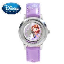 Disney Kids Watch Children Watch Princess Sofia Elsa Fashion Quite Wristwatches Girls Leather clock
