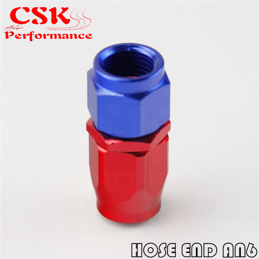 10AN AN10-10AN Straight Swivel Fast Flow Oil Fuel Line Hose End Fitting Adapter